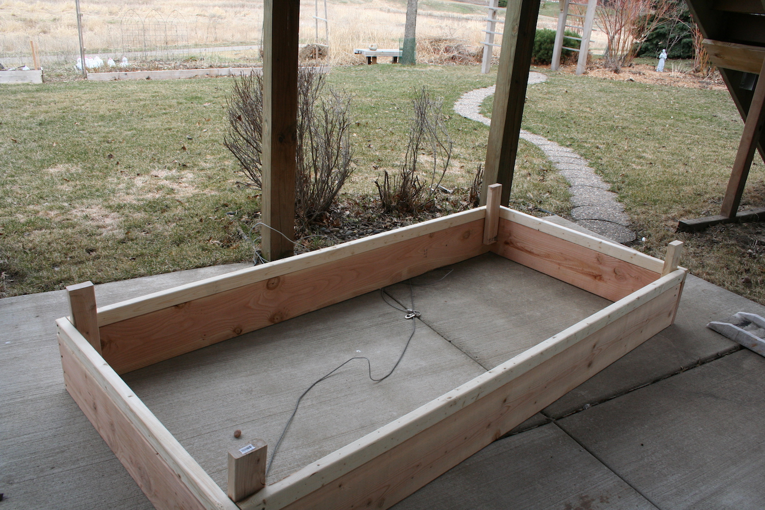 upside down raised bed