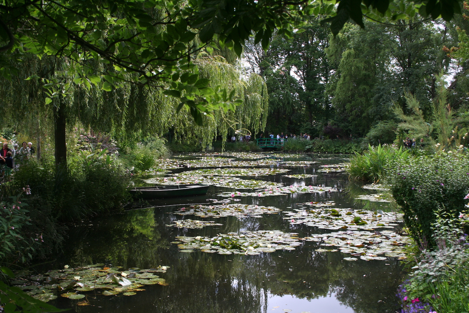 pond at Monet's garden in France