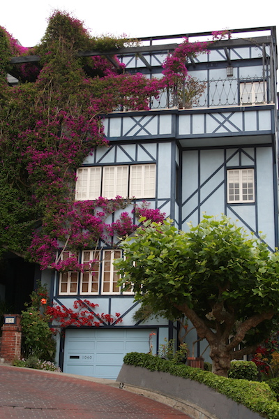 lombard street house with vine