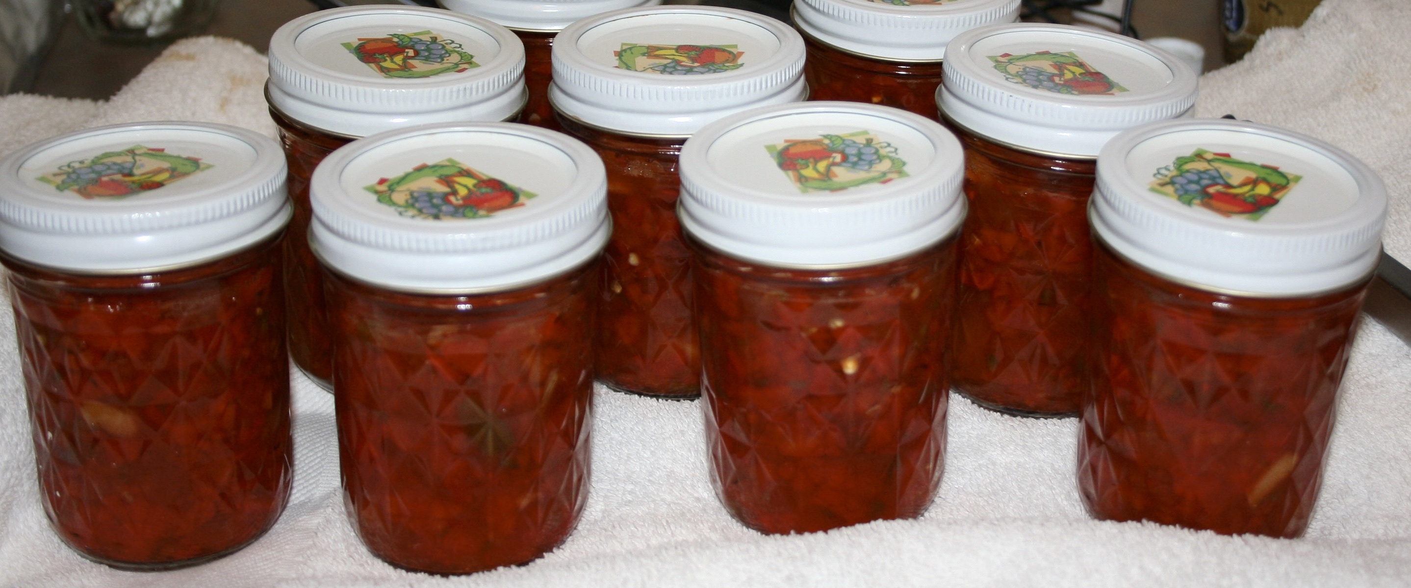 jars of relish