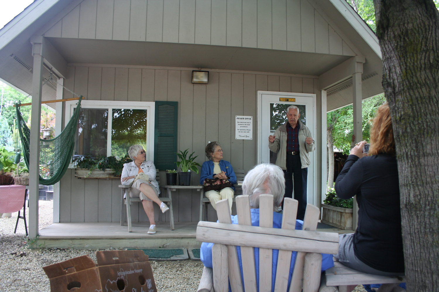 Jerry Williams on porch
