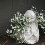 Virgin Mary planter