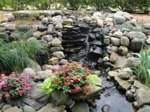 Waterfall in Northfield garden
