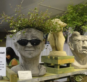 Plant head with shades