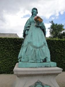 The Dowager Queen looks out over Copenhagen's King's Garden.
