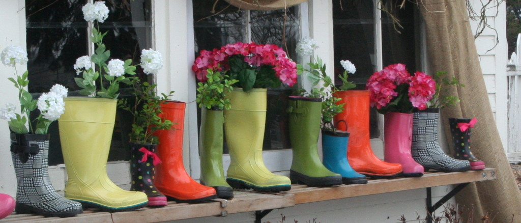These boots were made for planting.