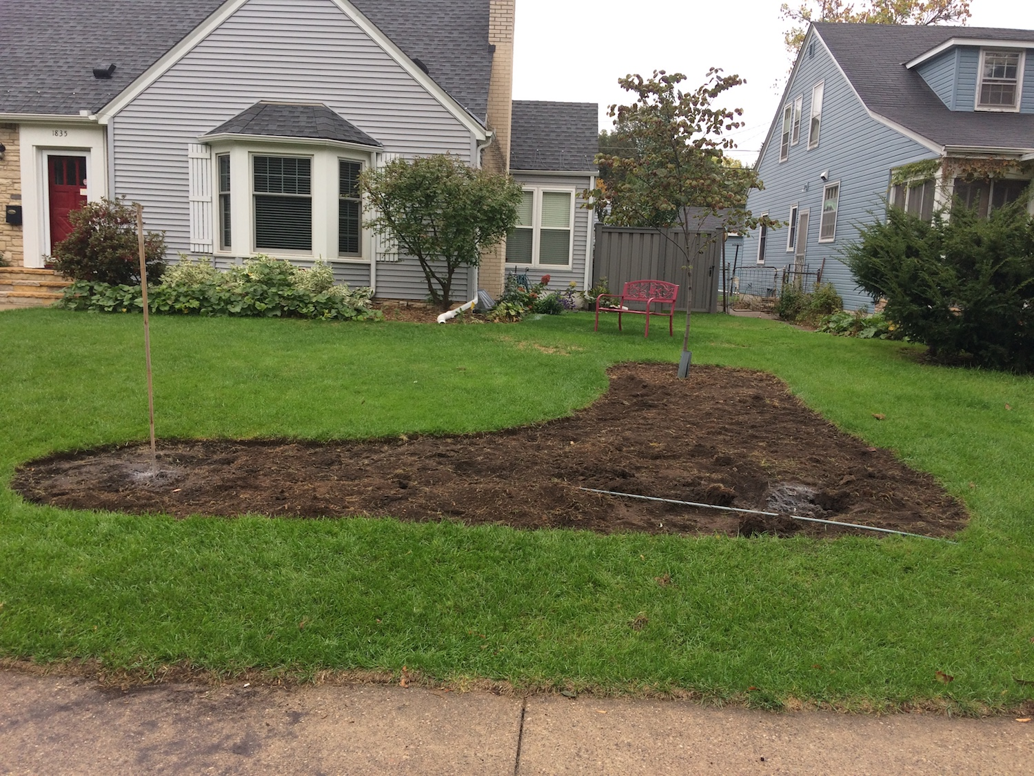 Sod Removed From Garden Bed