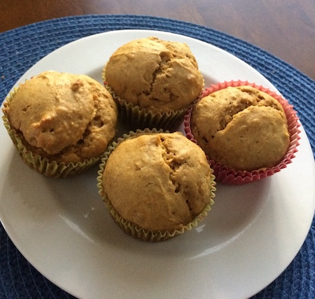 squash muffins on plate
