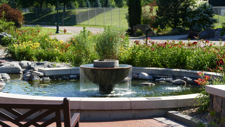 Water fountain at Millennium Garden